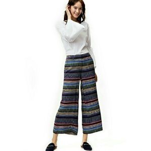 LOFT striped flare pants